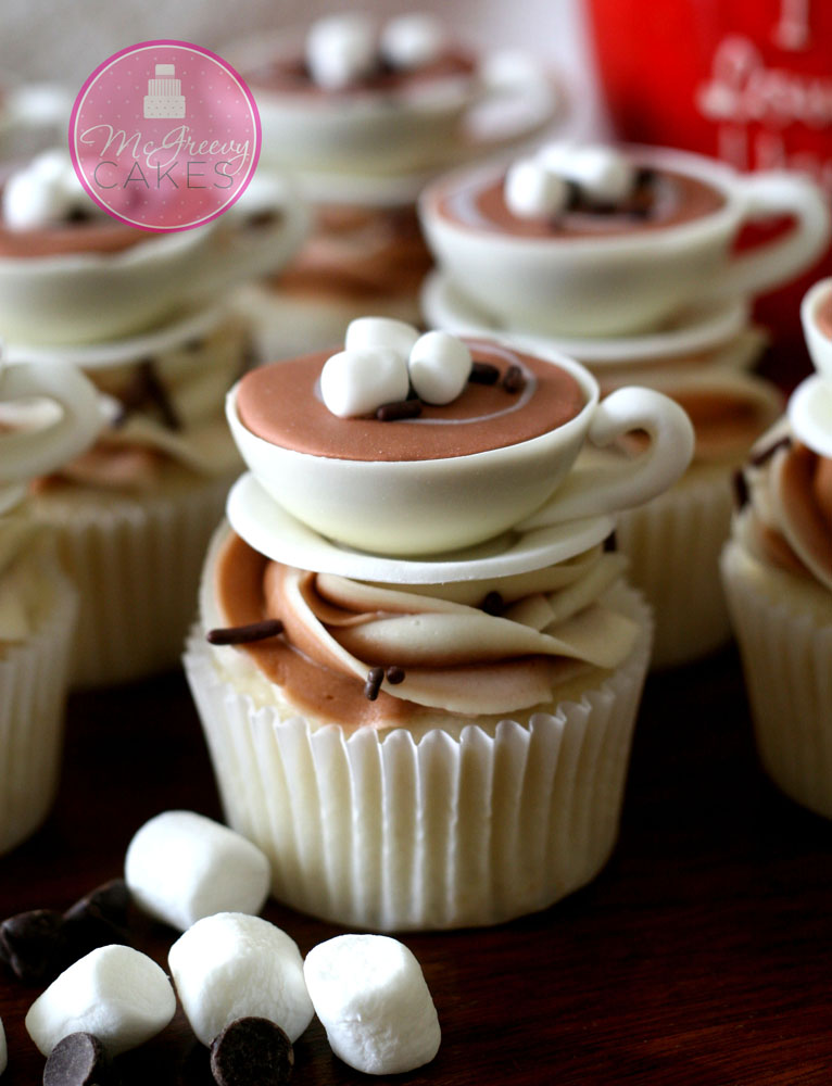 Hot Cocoa Cupcakes Tutorial - All Things Cupcake