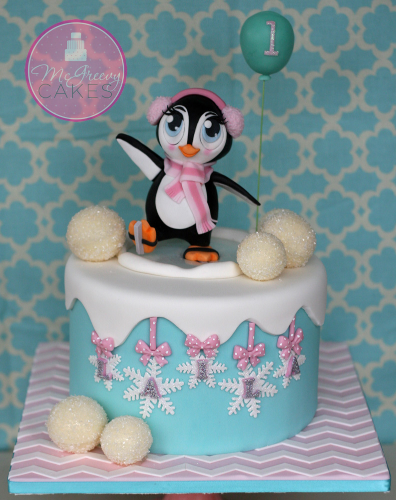 Skating Penguin Cake With Exclusive Tutorial For Subscribers
