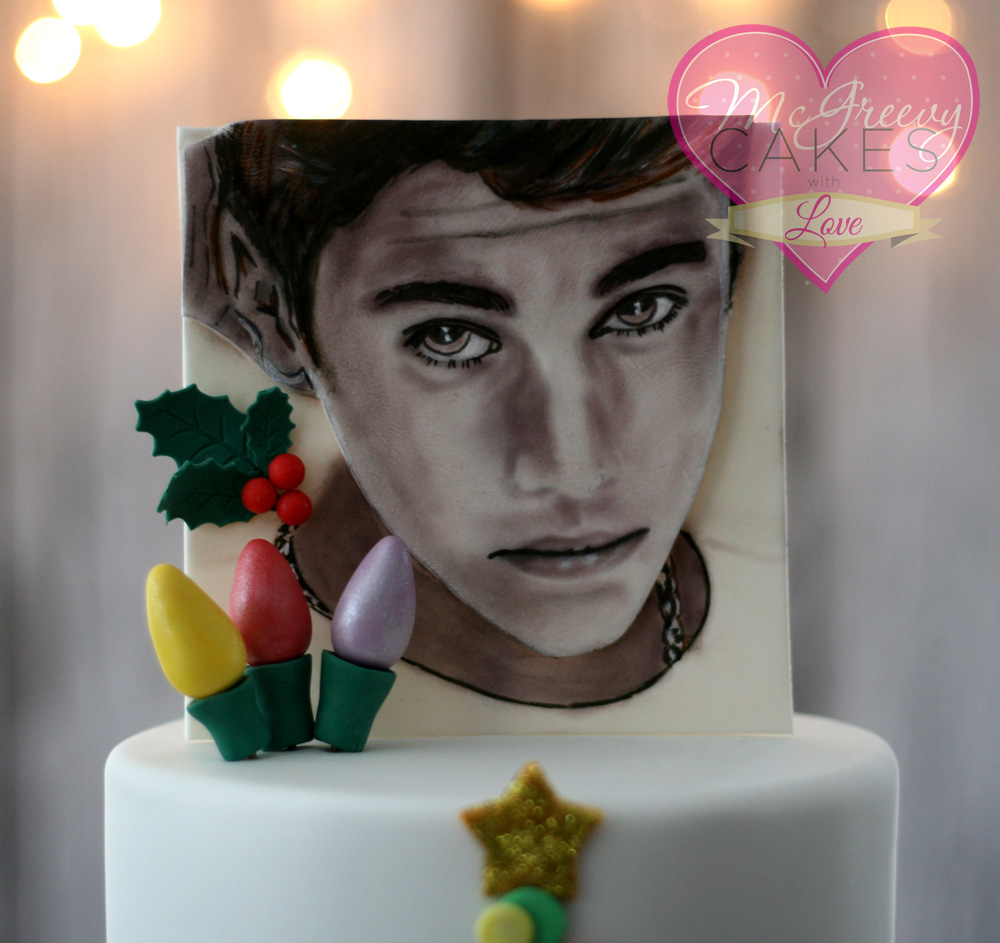 Justin Bieber Christmas Cake With Painting Tutorial