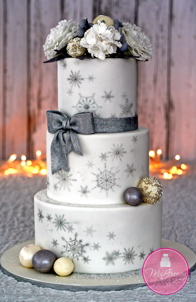 Winter wonderland cake 1