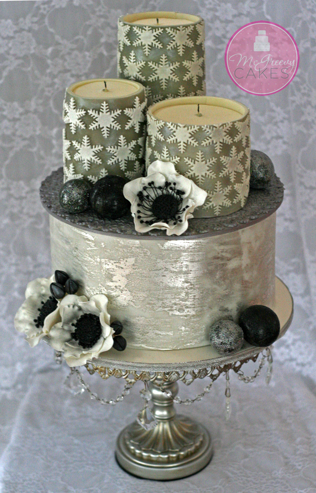 edible gold leaf wedding cake edible candles amp antique silver leaf tutorials mcgreevy 13906