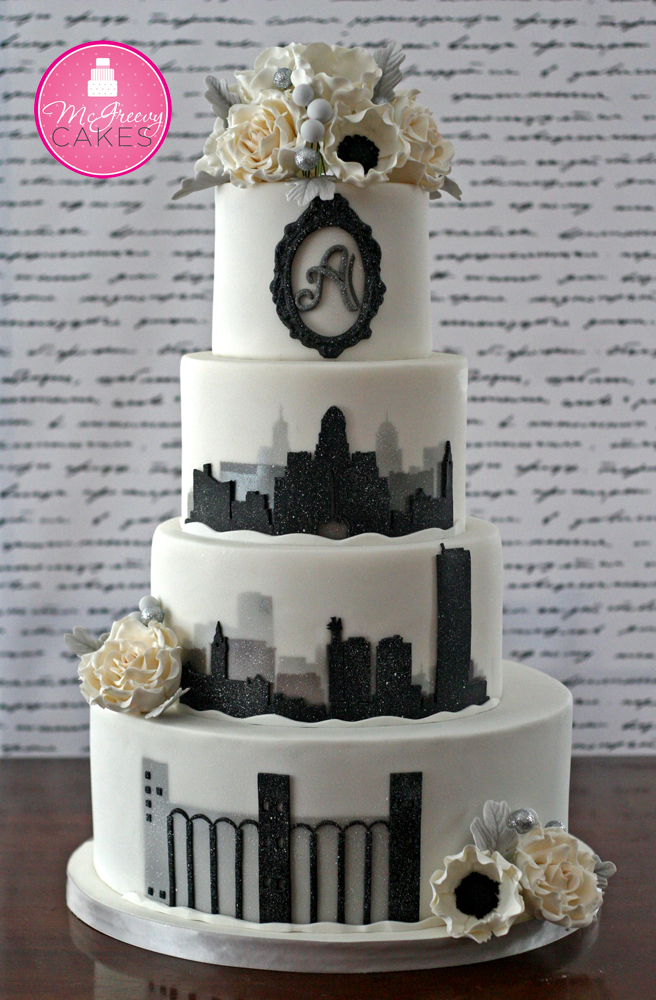 skyline wedding cake city in a blizzard silhouette cake mcgreevy cakes 20188