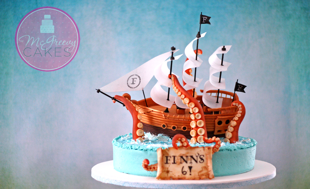 The Making of A Pirate Ship Cake! - McGreevy Cakes