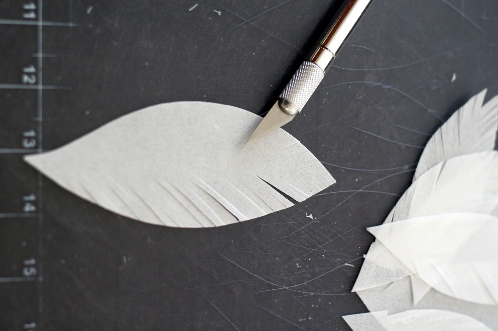 making wafer paper feathers
