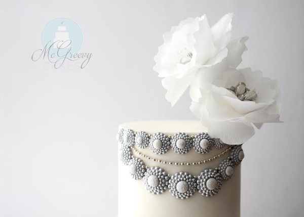 Rice Paper Dress Wafer Flowers Cake Mcgreevy Cakes