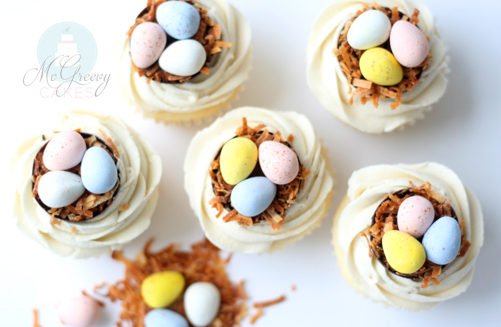 top view easter cupcakes 1