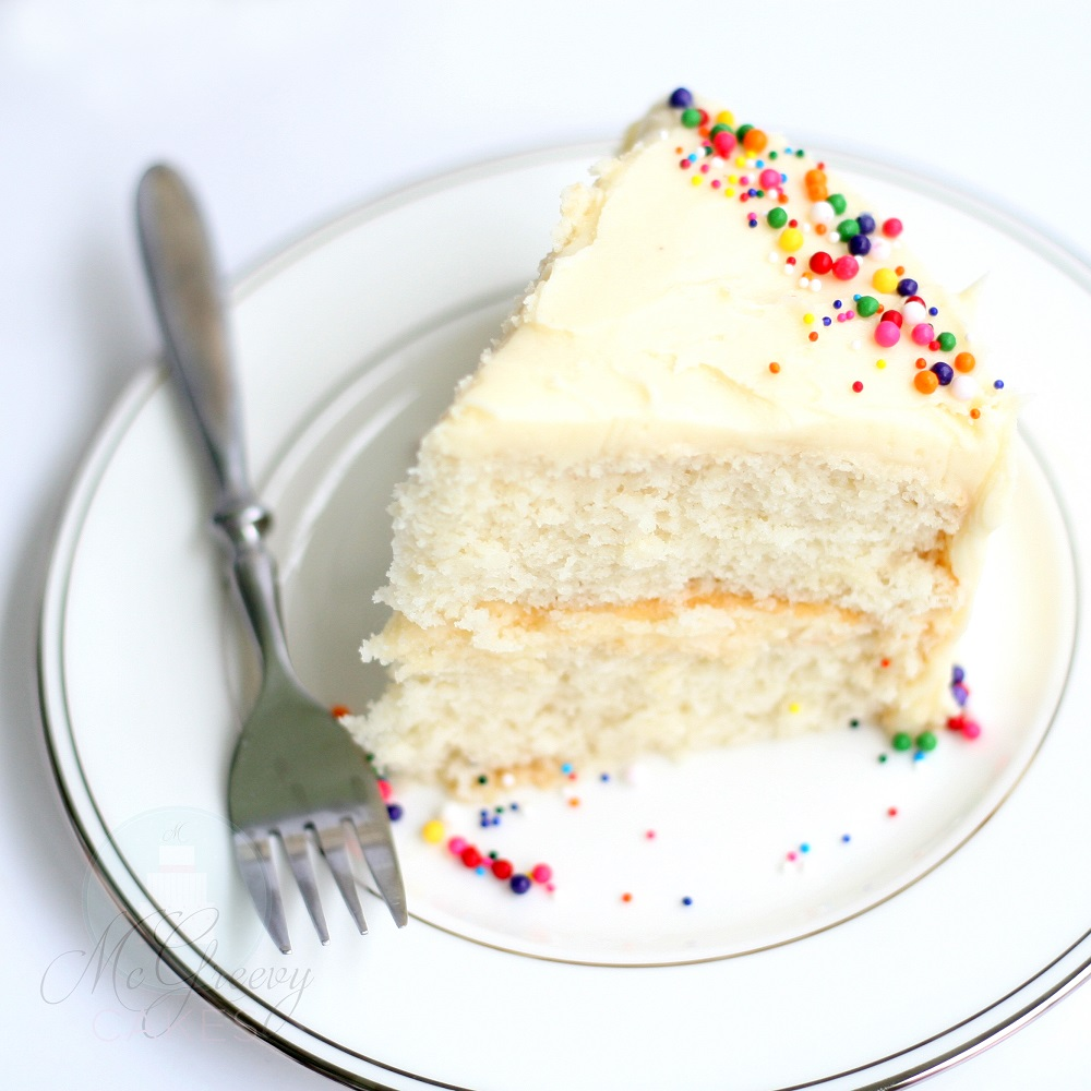 White Almond (or Vanilla) Sour Cream Cake (WASC) - McGreevy Cakes