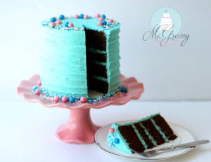 chocolate cake cut