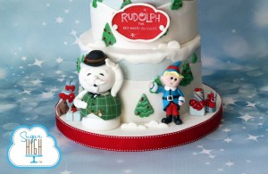 Rudolph the Red Nosed Reindeer Cake!