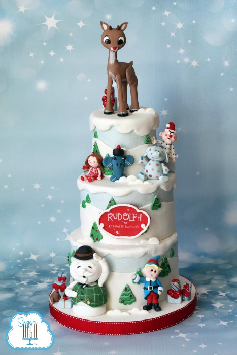 Rudolph Red Nosed Reindeer >> Rudolph the Red Nosed Reindeer Cake! - McGreevy Cakes