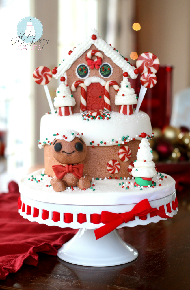Decorated Gingerbread Man Cake