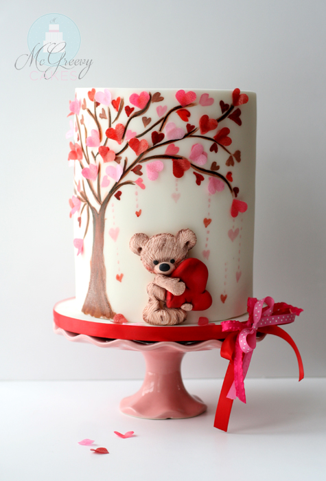 A Valentine S Day Cake Tutorial Mcgreevy Cakes