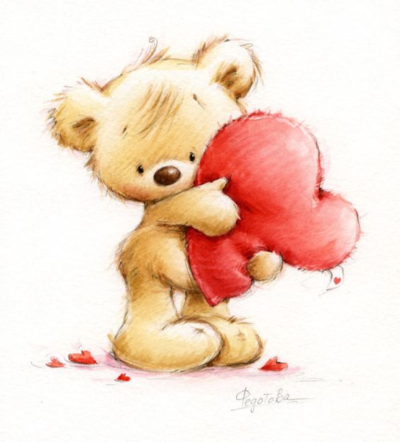 Drawings Of Teddy Bears With Hearts | www.pixshark.com ...