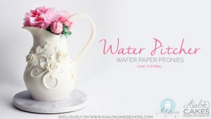 Water Pitcher Cake and Wafer Peonies Online Class!