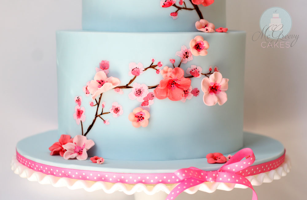Cherry Blossom Cake Design
