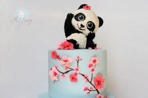 How to Make Cherry Blossoms on Cake; Moneting it