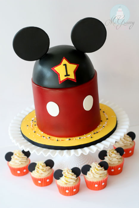Mickey Mouse 1st Birthday and Smash Cake - McGreevy Cakes