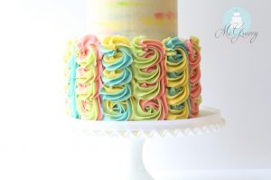 Lilly Pulitzer Inspired, Buttercream Swirl Cake! (And how to make it)