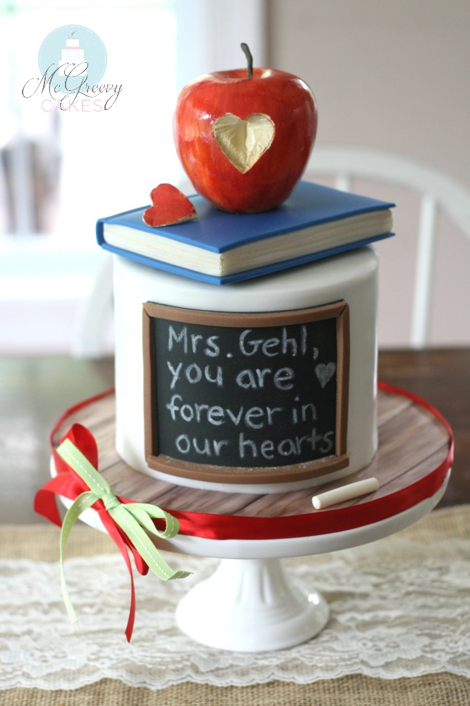A Teacher Cake... For a Toucher of Lives - McGreevy Cakes