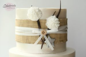 Fondant Luster Finish, Edible Burlap & Yummy Cotton Balls