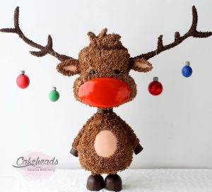 Structured Rudolph Cake