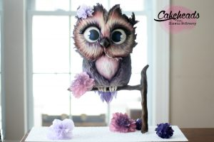 Structured Owl Cake; WHOO knew?