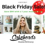Cakeheads Membership, Face Mold, & Bench Scraper Black Friday Sale!