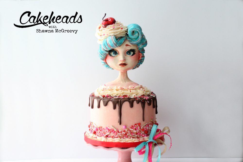 The Full, Step By Step Video Tutorial Of How I Sculpted The Valentine Girl  And Created This Entire Cake And SOOO Much More, Is On Cakeheads.com!